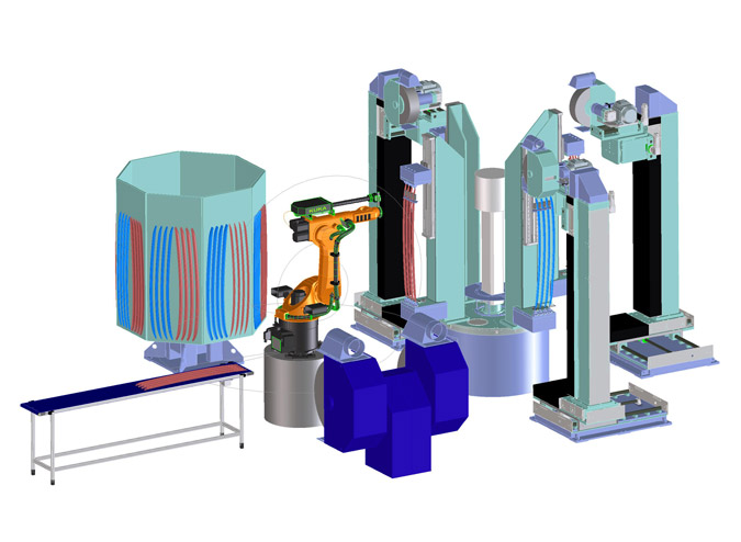 IR + TR Robotic Cell and Rotary Table